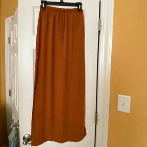 Brown maxi skirt